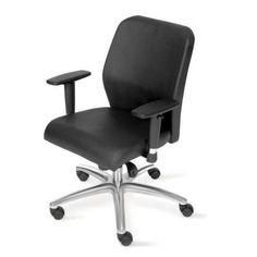 Cadeira Administração Giratória Escritório Costurada Cromada Gomada