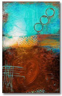 Textured Abstract Painting Urban Modern ORIGINAL by FariasFineArt