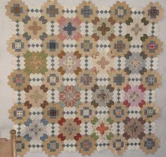 """Sandra brought this quilt top to class recently - the popular Lucy Boston Patchwork of the Crosses.   Isn't it beautiful! So soft and """"low ..."""