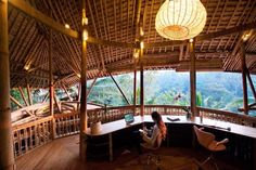 Natural Balinese Bamboo Open Air Workroom