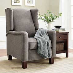 Modern Comfortable Lightweighted Wingback Pushback Recliner Chair Which Surely Fits to Any Modern Home.