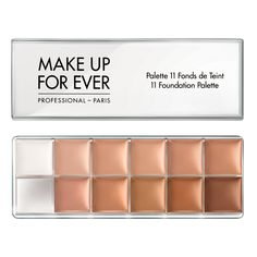 MUFE PRO 11 Foundation Palette (all 11 pan sticks in 1 convenient palette)