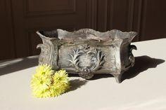 Amazing. French Antique Planter. Cast Iron by LePasseRecompose