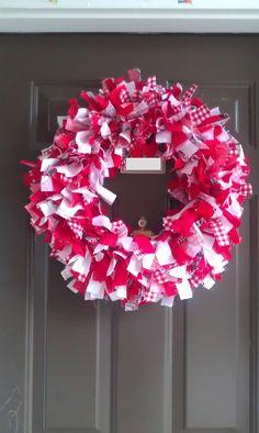NC State Game Day Rag Wreath
