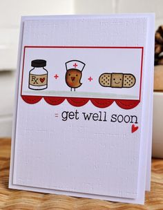Inky Fingers: Lawn Fawn Get Well Card
