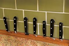 Nix a knife block and use the back counter space to display knives instead.