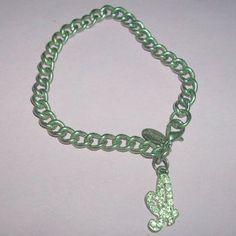 SALE Silver Tone Rhinestone  Initial A Charm Bracelet / by MICSJWL