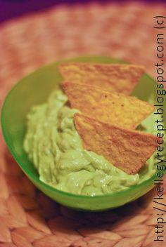 Mandy kertje és konyhája: Kéksajtos-avokádós kence Tortilla Chips, Guacamole, Mexican, Ethnic Recipes, Food, Essen, Yemek, Mexicans, Meals