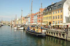 Nyhavn Kopenhagen, Denemarken
