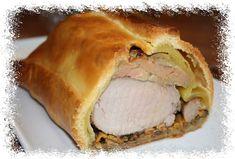 Filet mignon feuilleté au foie gras & chanterelles
