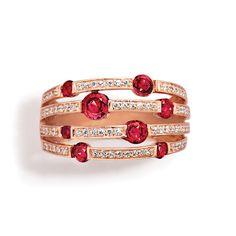 red, red beauty -- ruby and gold bracelet