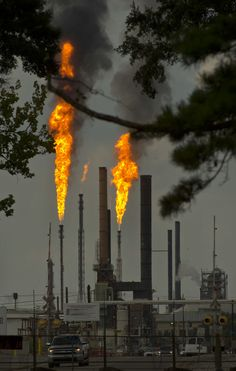 ExxonMobil has agreed to pay a penalty and improve pollution control at three Baton Rouge plants as part of a settlement with federal authorities who accused the company of violating Clean Air Act, Dead Forest, Save Our Earth, Earth Photos, New Environment, Urban Industrial, Air Pollution, Global Warming, Aesthetic Pictures