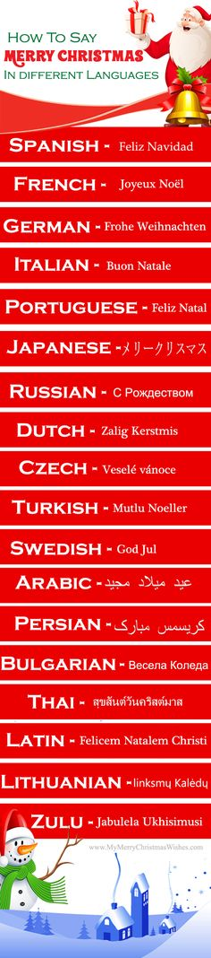 """How to say """"Merry Christmas"""" in Different Languages? See for more languages   #languages #merrychristmasinotherlanguages"""