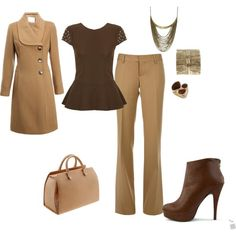 """Brown work outfit"""