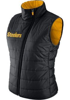 Nike Pittsburgh Steelers Womens Black Primaloft Vest Steelers T Shirts 107af0750