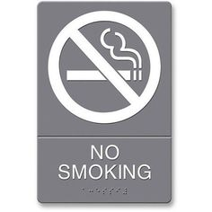 U.S. Stamp and Sign ADA Plastic No Smoking Sign, Multicolor