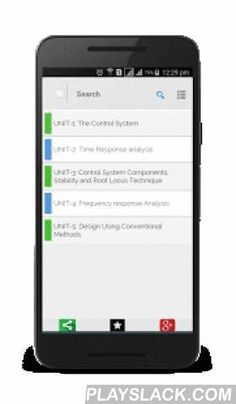 Control Systems Engineering  Android App - playslack.com ,  Control engineering or control systems engineering is the engineering discipline that applies control theory to design systems with desired behaviors. It is part of multiple engineering disciplines like electronics, electrical, Computer science, mechanical and chemical engineering. Systems and Control Engineers have a VAST work profile and the skill can be applied in multiple domains or Industries. The App presents quick learning…