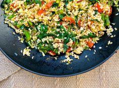 Italian Fried Rice made with brown rice and seasonal veggies. ☀CQ #glutenfree