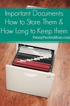 Whether it's warranties, receipts for repairs, or insurance paperwork, it's easy to have piles or boxes of important (and sometimes not so important) paperwork in too many places so that when you really need it, you can't find it. Jump start your organizational habits with these tips on Important Documents: How long to store them & How long to keep them.