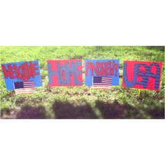 DIY military homecoming signs