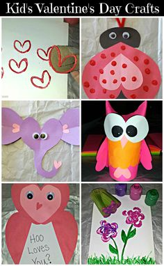 List of DIY Kids Valentines Day Crafts! Tons of ideas for heart art projects of ladybugs, owls, elephants, flowers, and more! | CraftyMorning.com