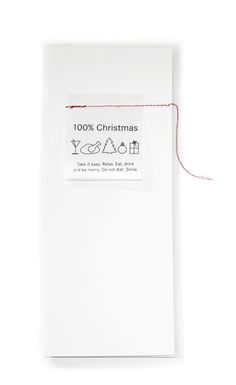 100% Christmas card in white| Xmas decoration . Weihnachtsdekoration . décoration noël | @ kreativ-ideen |