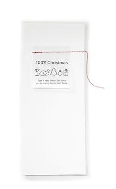 100% Christmas Weihnachtskarte mit Waschzettel - 7298 - Geschenkidee