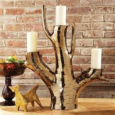 Bronze Branch Candle Holder