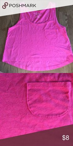 Pink crop top American eagle simple pink longer crop top! Perfect for the beach American Eagle Outfitters Tops Crop Tops