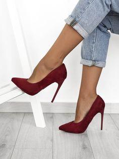 Γόβες Suede Μπορντό - No Mercy Love Fashion, Fashion Shoes, Winter Fashion, Fashion Outfits, Womens Fashion, Shoe Boots, Shoes Heels, Pumps, Hipster Girls