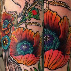 follow the colours neotradicional tattoo friday Katie Shocrylas papoula