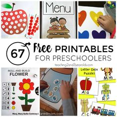 67 Free Printable Activities for Preschoolers