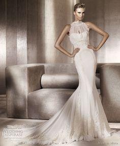 http://weddinginspirasi.com/2011/04/29/manuel-mota-2012-wedding-dresses/ { manuel mota #wedding dresses 2012 bridal gown collection for pronovias - pueblo } #weddings #weddingdress #bridal