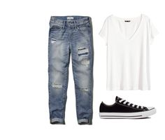 """By @thuglife2001"" by julia3smith on Polyvore featuring Abercrombie & Fitch, H&M and Converse"