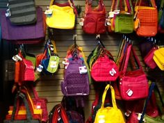 Flower Attic & Gifts. Virden Manitoba  Great selection of Lug bags in many different colours