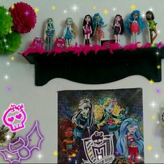 Monster high madness in my girls room.