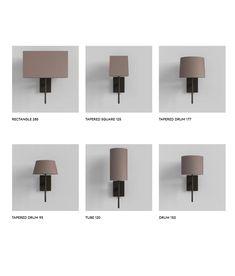 Elegant Long Stem Bracket Wall Light with Fabric Shade Fabric Shades, Chrome Finish, Wall Lights, Bronze, Elegant, Lighting, Home Decor, Dapper Gentleman, Homemade Home Decor