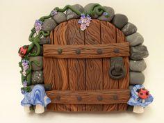 Blue Mushrooms Fairy Door by FlyingFrogCreations.deviantart.com on @deviantART