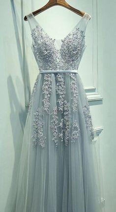 2017 New Appliqued Long Prom Dress , Long Winter Formal Dress P013
