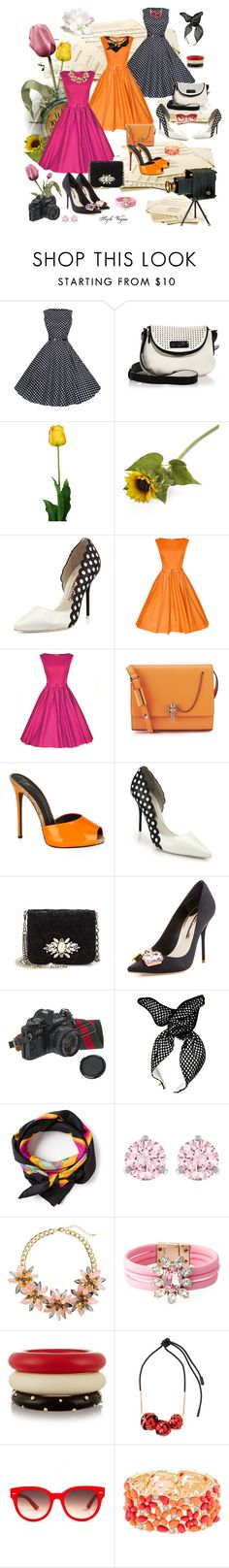 """Vintage romantic"" by lamipaz ❤ liked on Polyvore featuring Marc by Marc Jacobs, Laura Cole, Crate and Barrel, Sophia Webster, Carven, Giuseppe Zanotti, Dolce&Gabbana, American Eagle Outfitters, Hermès and Swarovski"