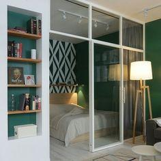 Studio Apartment Design, Small Apartment Design, Small Apartments, Small Rooms, Small Spaces, Deco Studio, Interior Decorating, Interior Design, Home Staging