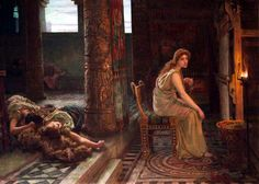 Francis Sydney Muschamp - Penelope at her loom. Tags: odyssey, penelope,