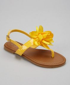 Look what I found on #zulily! Yellow Patent Paula Sandal by COCO Jumbo #zulilyfinds