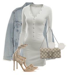 """Untitled #3716"" by xirix ❤ liked on Polyvore featuring Current/Elliott, Doublju, Gucci and Gianvito Rossi"