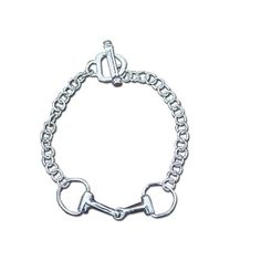 Goode Rider Horsebit Bracelet ($220) via Polyvore featuring jewelry, bracelets, sterling silver jewellery, horsebit jewelry, hand crafted jewelry, equestrian jewelry and sterling silver jewelry