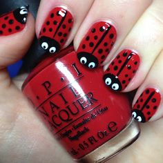 The Nail Trail: Day 5 - Ladybirds