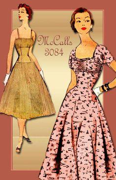 1950s Dress Pattern McCalls 3084 Vintage by FloradoraPresents