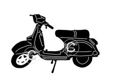 Classic Bike Motorbike Motorcycle Vespa silhouette SVG on Craftsuprint designed by Tina Fallon - Classic Bike, Motorbike,Motorcycle Vespa silhouette - Now available for download!