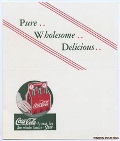 1930s postcard B http://www.7xpub.com/advertising-covers/1722-six-coke-bottles-coupon-postcard-1930s.html