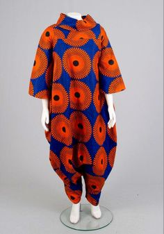 Excited to share the latest addition to my shop: African Print Bottom Zip Jumpsuit African Inspired Fashion, African Print Fashion, Africa Fashion, Ethnic Fashion, African Attire For Men, African Wear, African Dress, Dress Shirts For Women, Clothes For Women